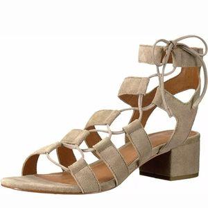 FRYE Chrissy Side Ghillie Ash Sandal Heels